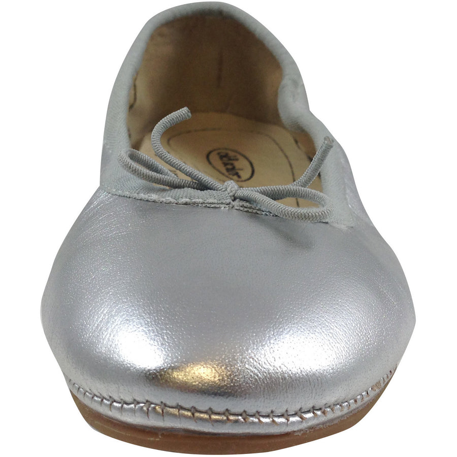 Old Soles Girl's Silver Cruise Ballet Flat - Just Shoes for Kids  - 5