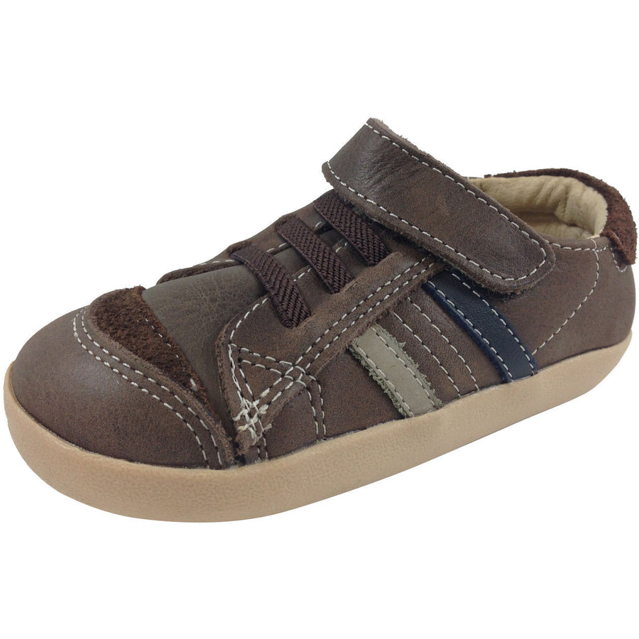 Old Soles Boy's 338 Distressed Brown/Grey/Navy Denzle Sneaker - Just Shoes for Kids  - 1