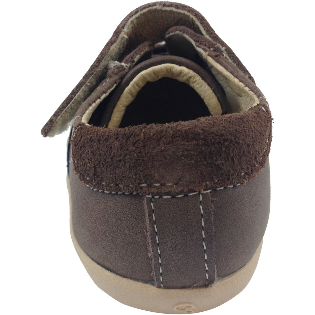 Old Soles Boy's 338 Distressed Brown/Grey/Navy Denzle Sneaker - Just Shoes for Kids  - 3
