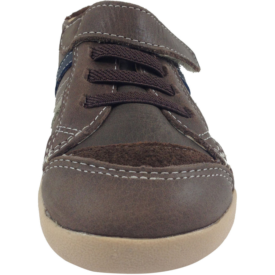 Old Soles Boy's 338 Distressed Brown/Grey/Navy Denzle Sneaker - Just Shoes for Kids  - 5