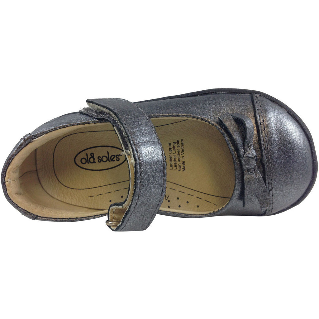 Old Soles Girl's 313 Rich Silver Sista Flat - Just Shoes for Kids  - 6