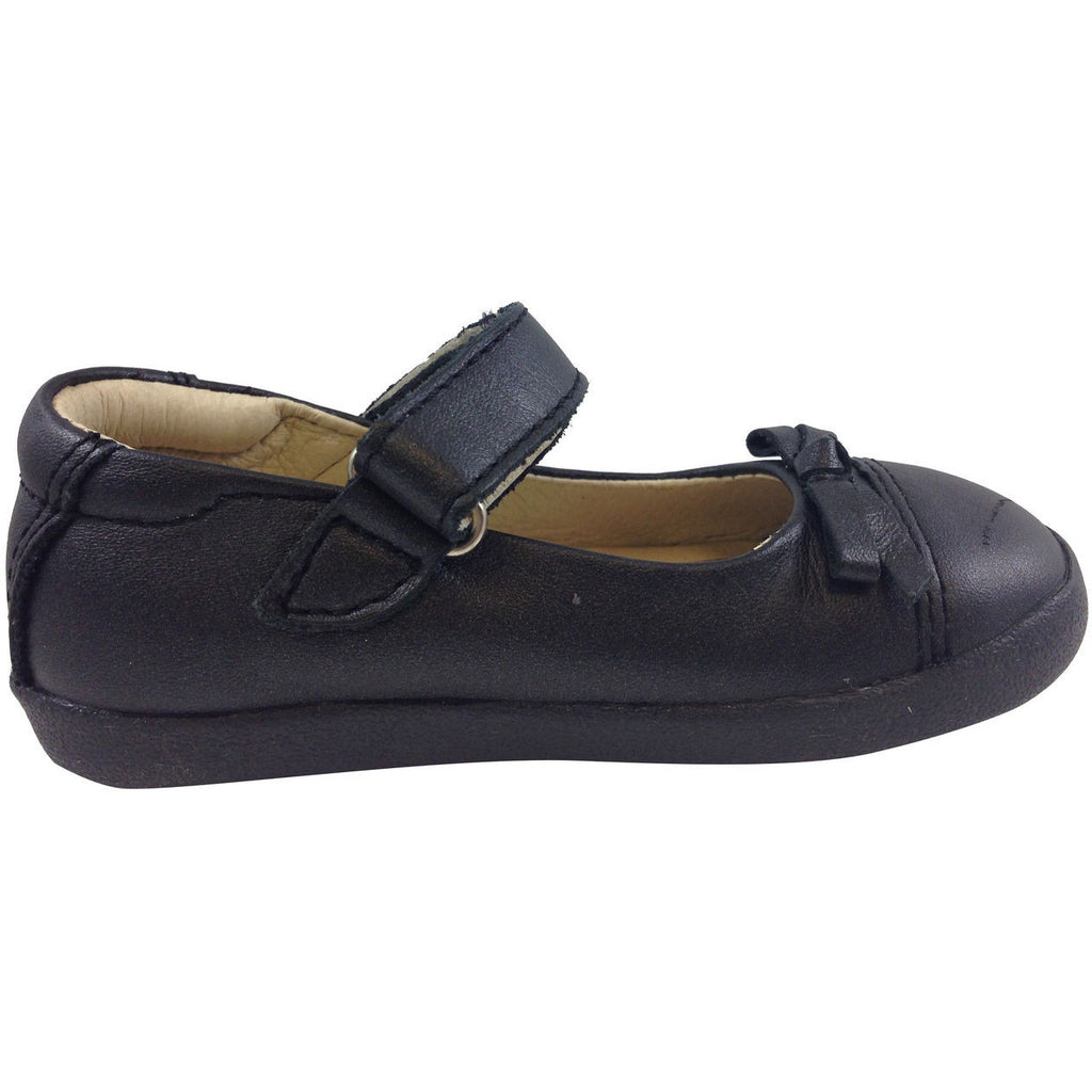 Old Soles Girl's 313 Black Sista Flat - Just Shoes for Kids  - 4