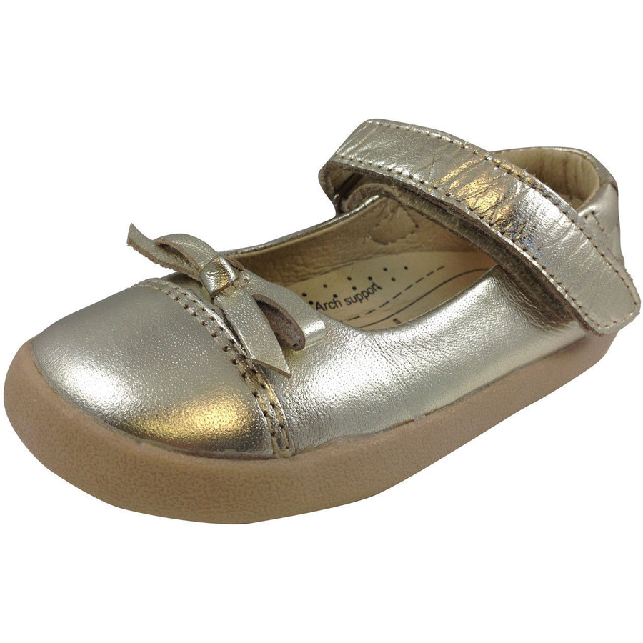 Old Soles Girl's 313 Gold Sista Flat - Just Shoes for Kids  - 1
