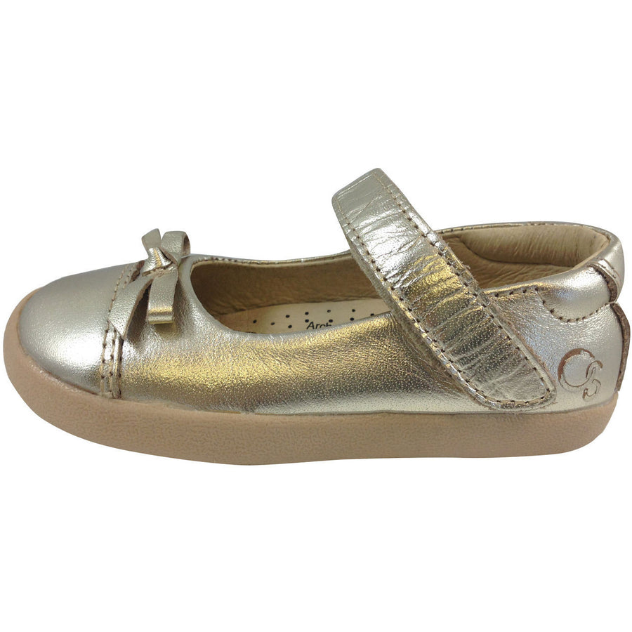 Old Soles Girl's 313 Gold Sista Flat - Just Shoes for Kids  - 2
