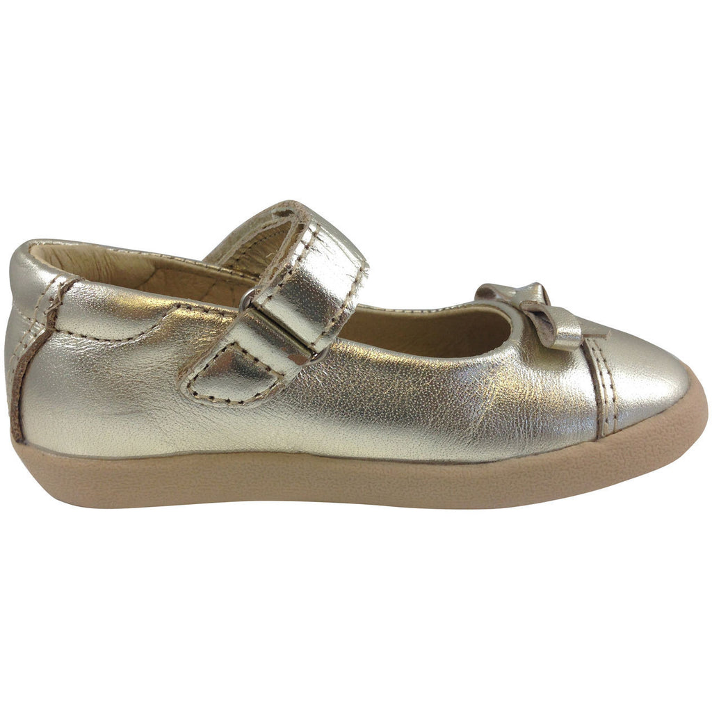 Old Soles Girl's 313 Gold Sista Flat - Just Shoes for Kids  - 4