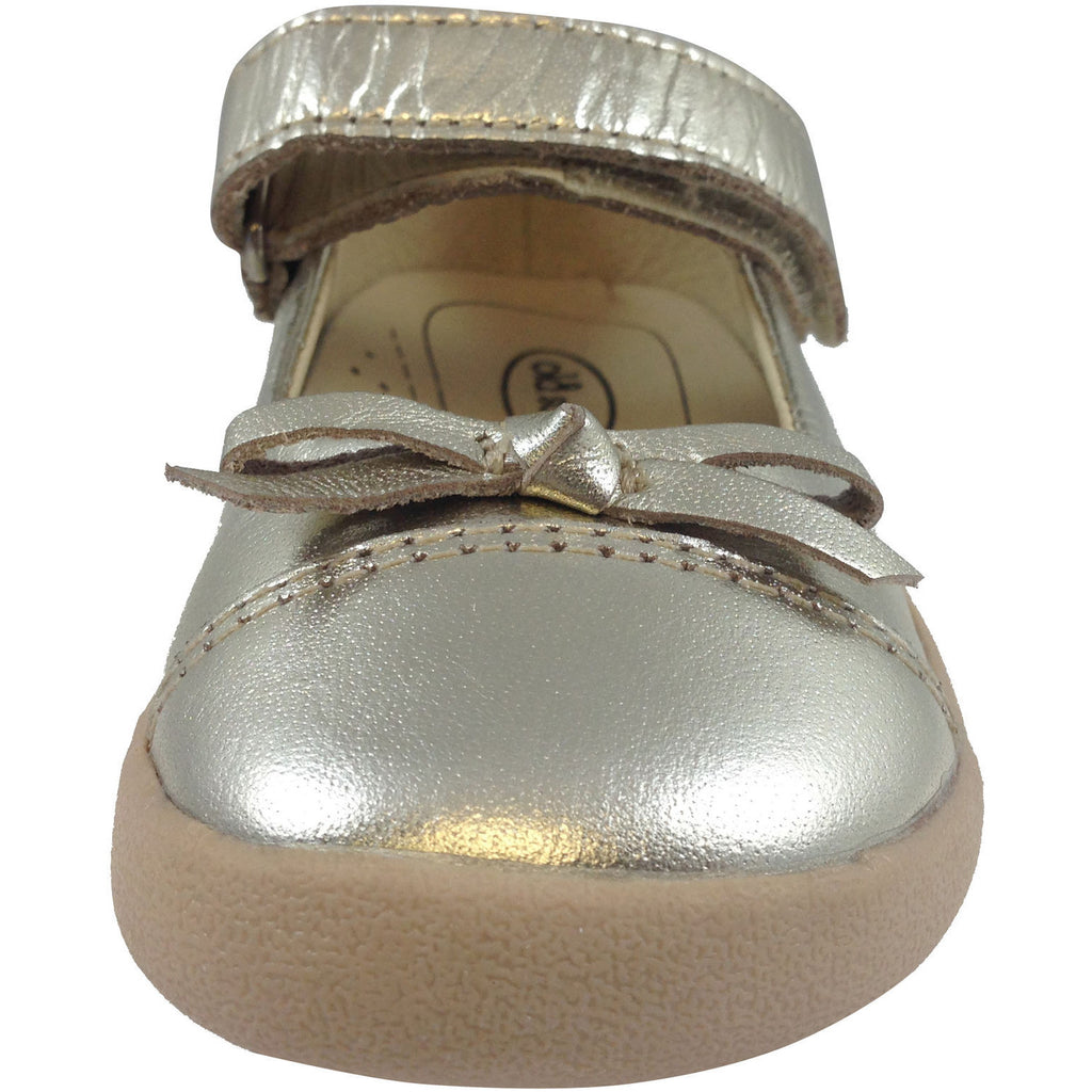Old Soles Girl's 313 Gold Sista Flat - Just Shoes for Kids  - 5