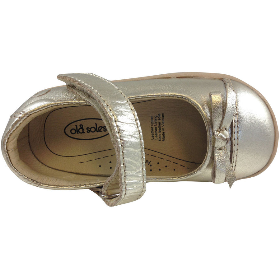 Old Soles Girl's 313 Gold Sista Flat - Just Shoes for Kids  - 6