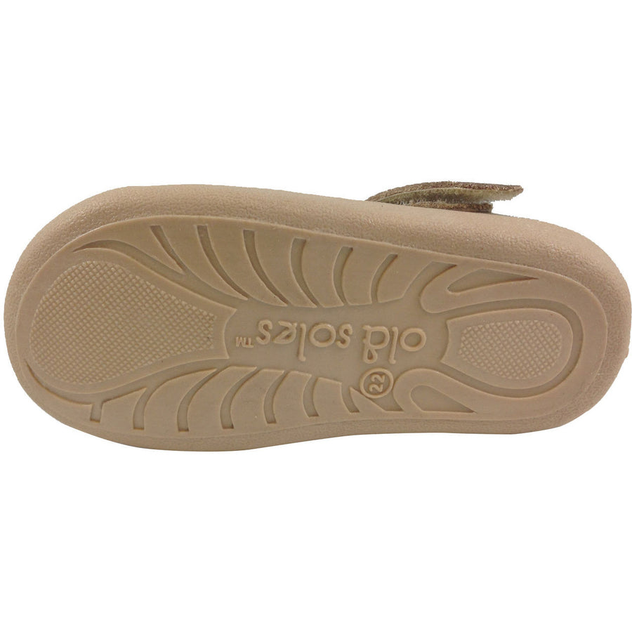 Old Soles Girl's 313 Gold Sista Flat - Just Shoes for Kids  - 7