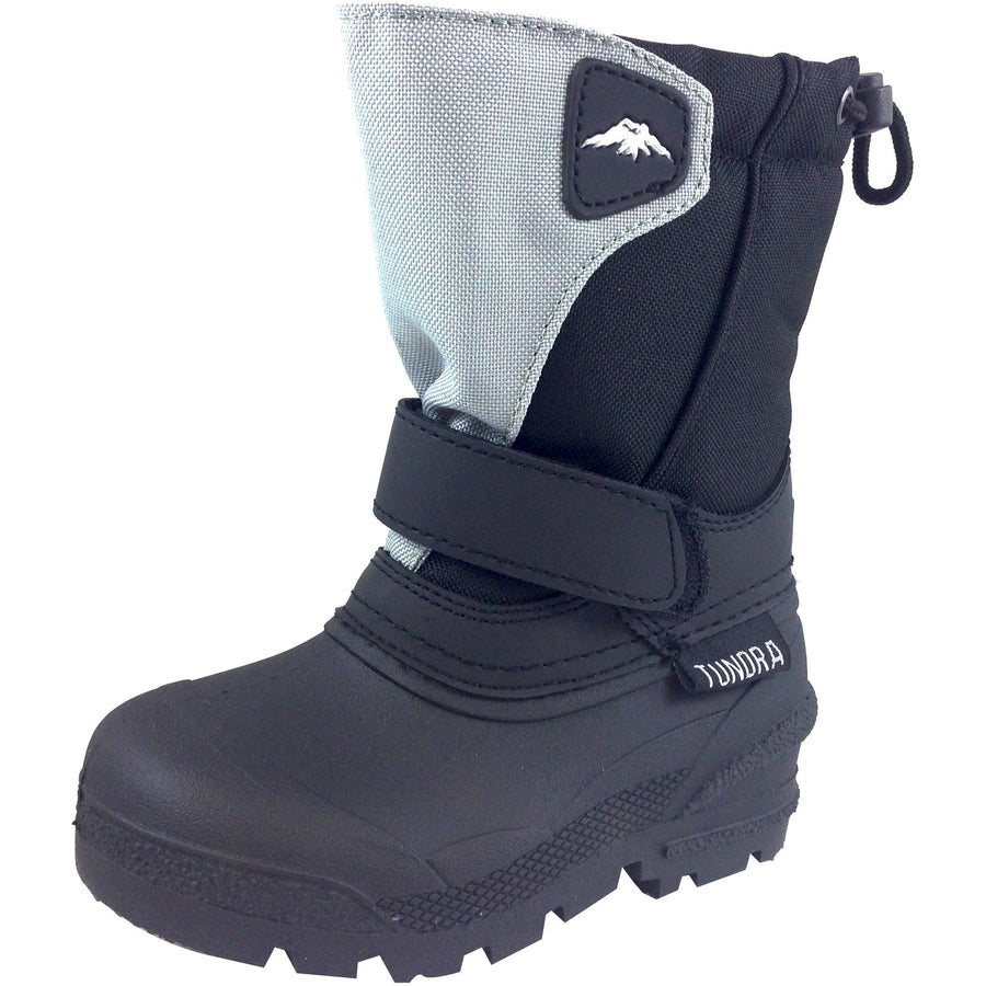 Tundra Boy's & Girl's Black/Grey Quebec Snow Boot