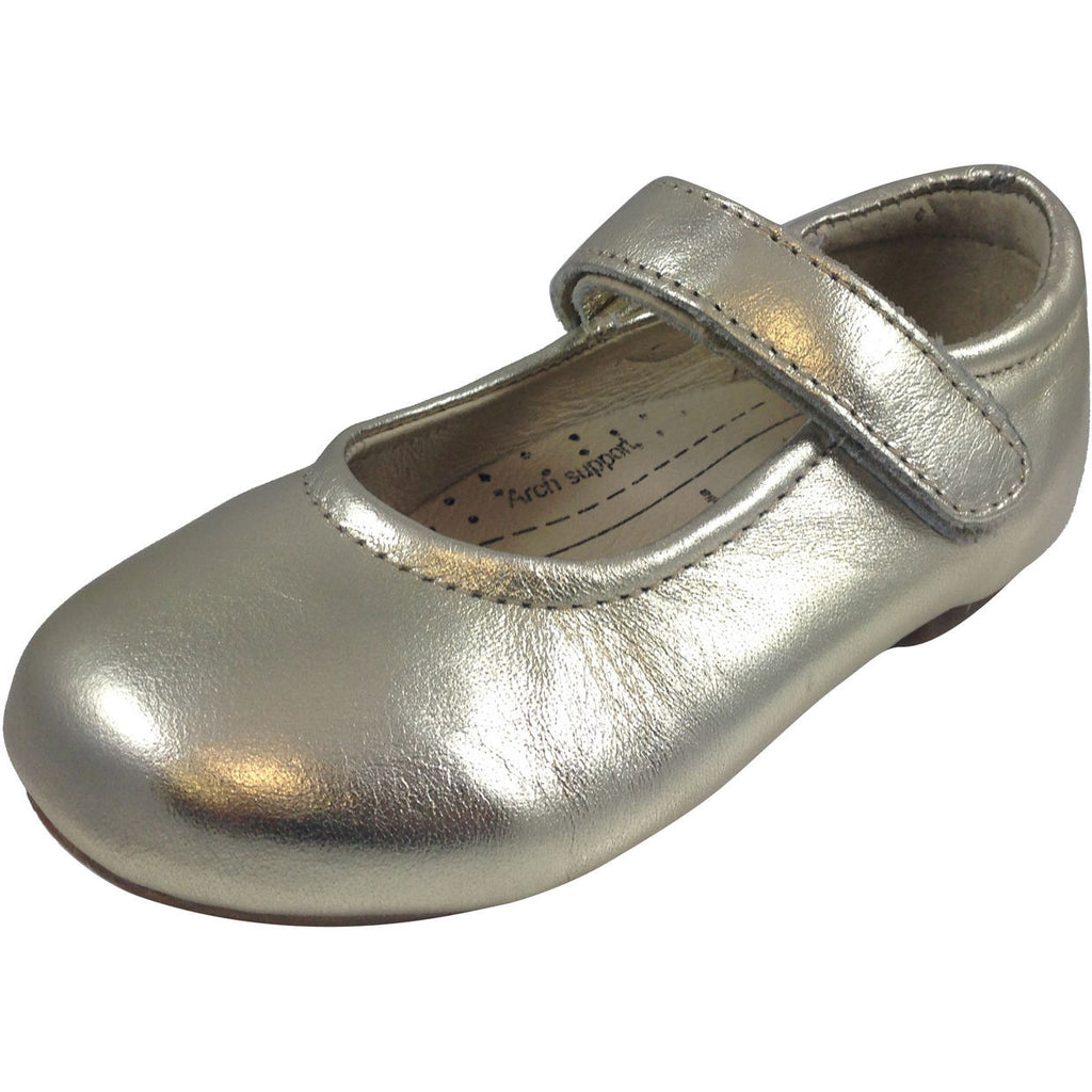 Old Soles Girl's Gold Praline Flat - Just Shoes for Kids  - 1