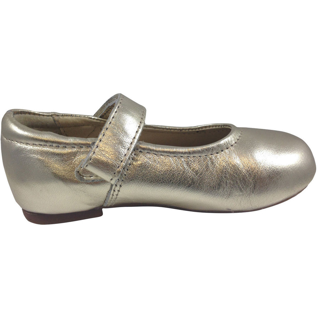 Old Soles Girl's Gold Praline Flat - Just Shoes for Kids  - 2
