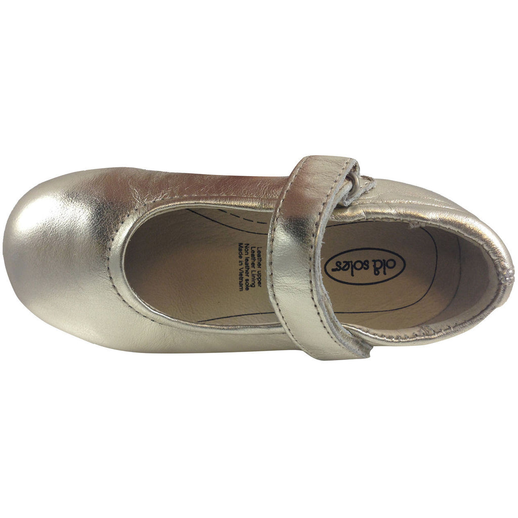 Old Soles Girl's Gold Praline Flat - Just Shoes for Kids  - 3