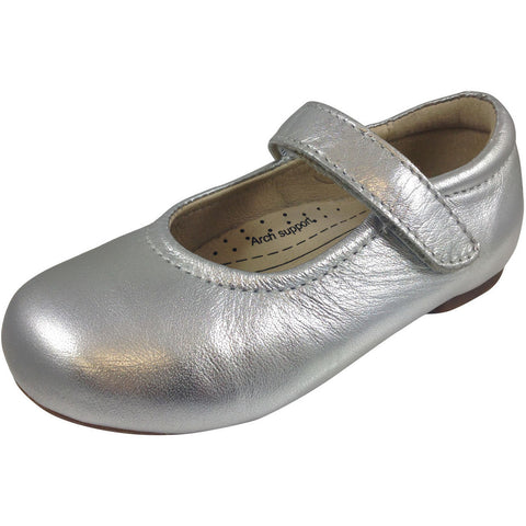 Old Soles Girl's Silver Praline Flat - Just Shoes for Kids  - 1