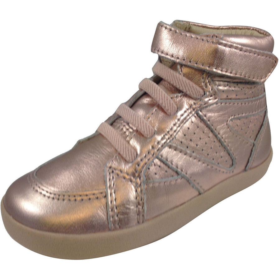 Old Soles Girl's Copper Leather Cheer Leader Hightops - Just Shoes for Kids  - 1