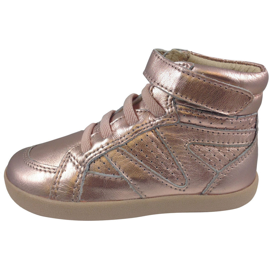 Old Soles Girl's Copper Leather Cheer Leader Hightops - Just Shoes for Kids  - 2