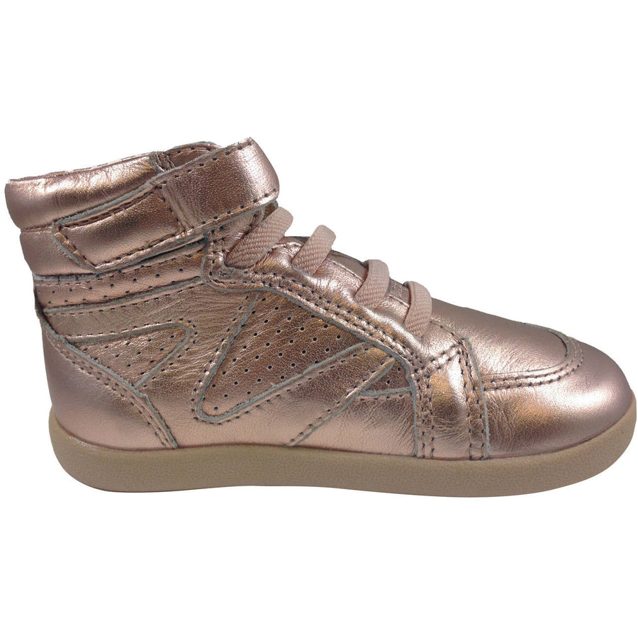 Old Soles Girl's Copper Leather Cheer Leader Hightops - Just Shoes for Kids  - 4