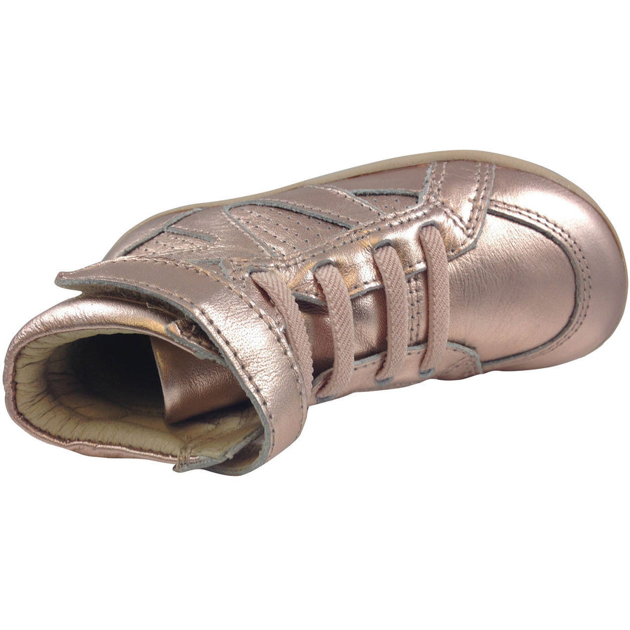 Old Soles Girl's Copper Leather Cheer Leader Hightops - Just Shoes for Kids  - 5