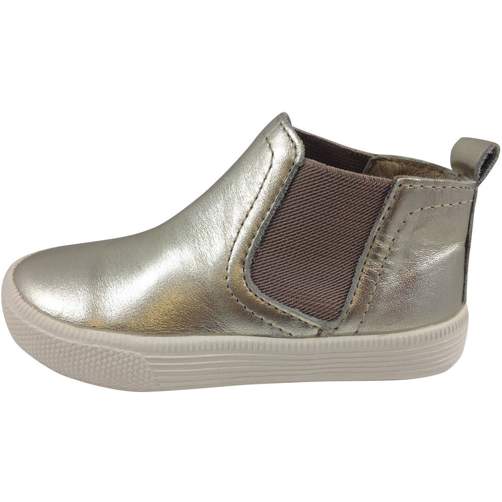 Old Soles Girl's and Boy's The Local 1033 Gold Leather Hightops - Just Shoes for Kids  - 2