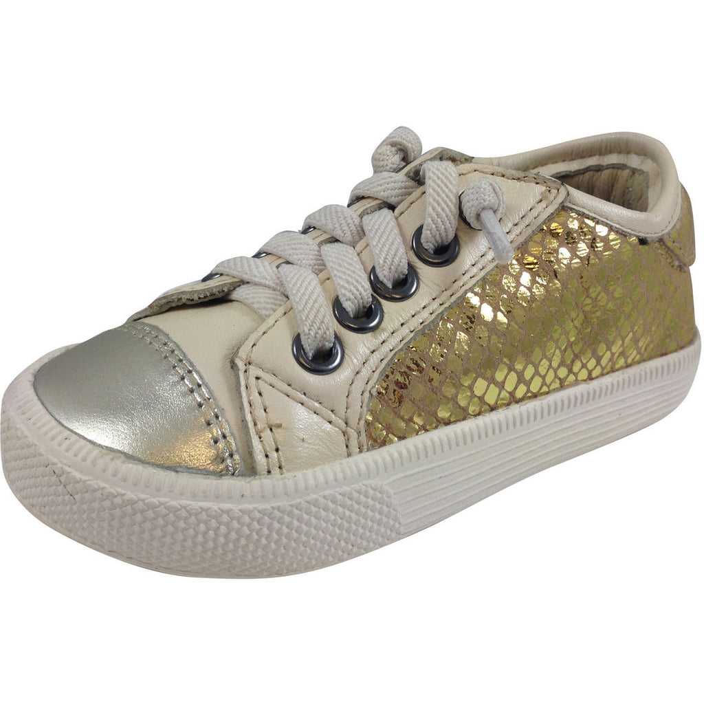 Old Soles Girl's and Boy's 1031 Gold Glam Jogger - Just Shoes for Kids  - 1