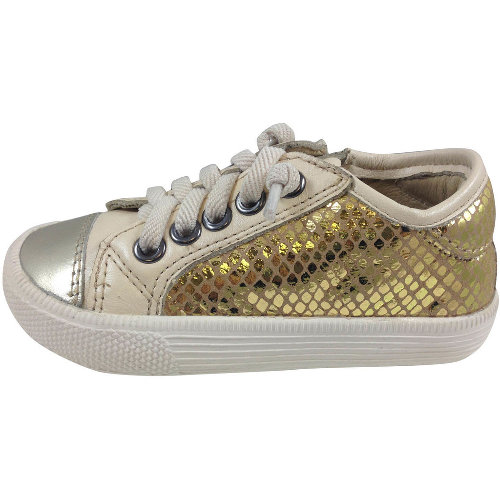 Old Soles Girl's and Boy's 1031 Gold Glam Jogger - Just Shoes for Kids  - 2