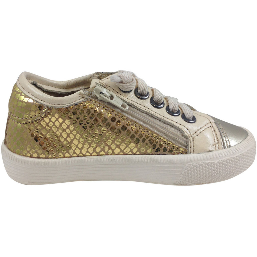 Old Soles Girl's and Boy's 1031 Gold Glam Jogger - Just Shoes for Kids  - 4