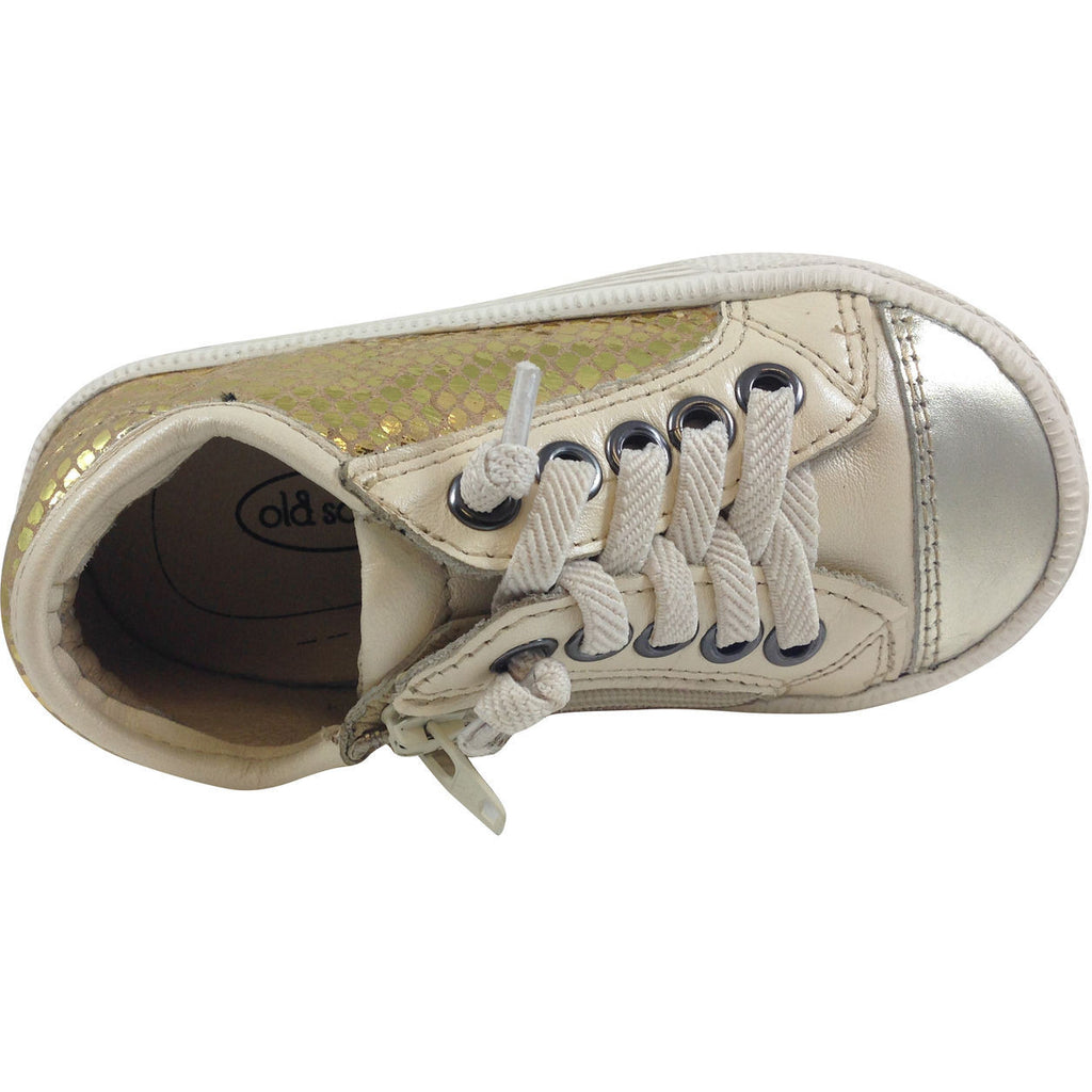 Old Soles Girl's and Boy's 1031 Gold Glam Jogger - Just Shoes for Kids  - 5