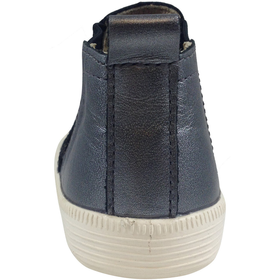 Old Soles Girl's and Boy's The Local 1033 Rich Silver Leather Hightops - Just Shoes for Kids  - 3