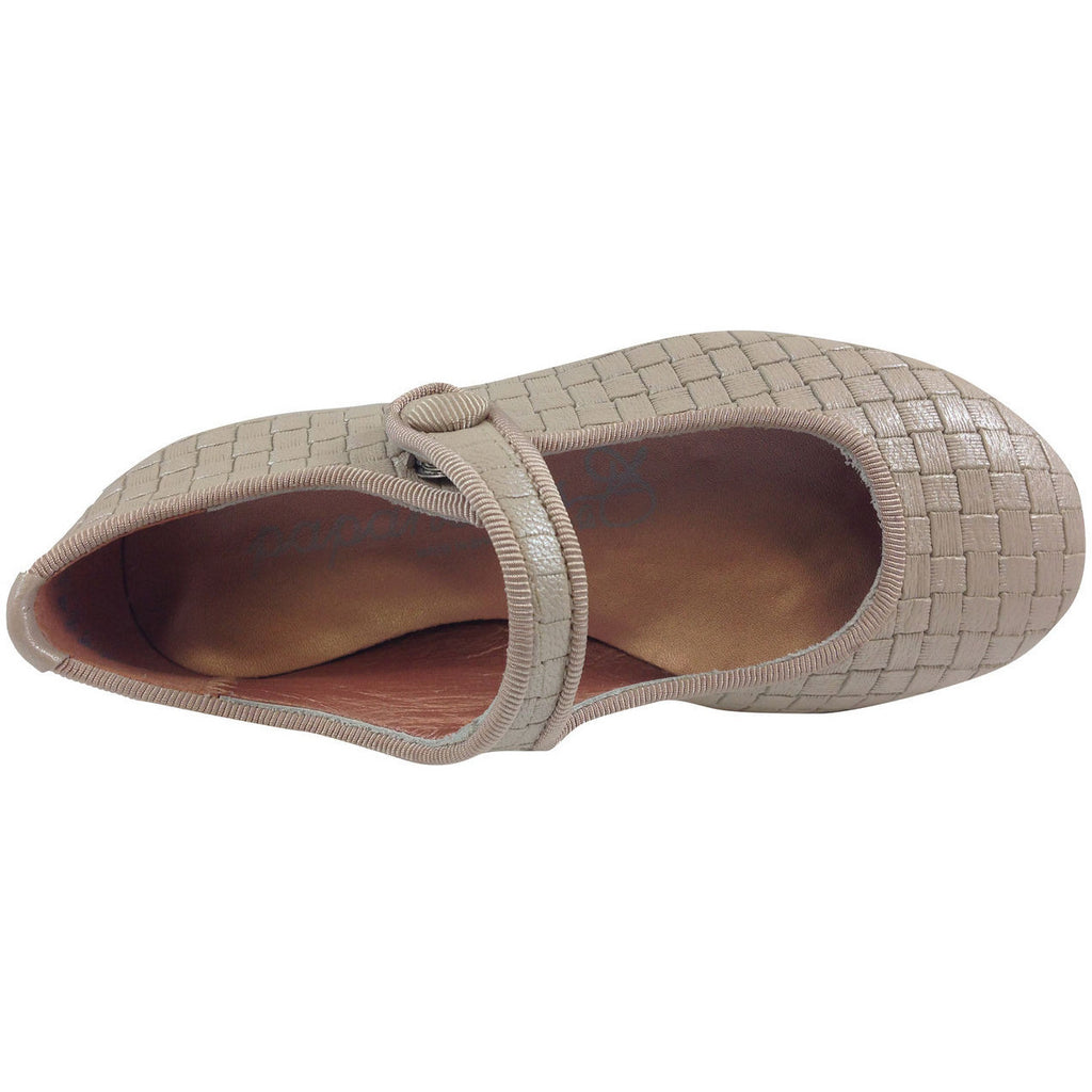 Papanatas by Eli Girl's Beige Cloe Mary Jane Flats - Just Shoes for Kids  - 5
