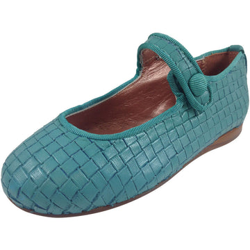 Papanatas by Eli Girl's Teal Cloe Mary Jane Flats - Just Shoes for Kids  - 1