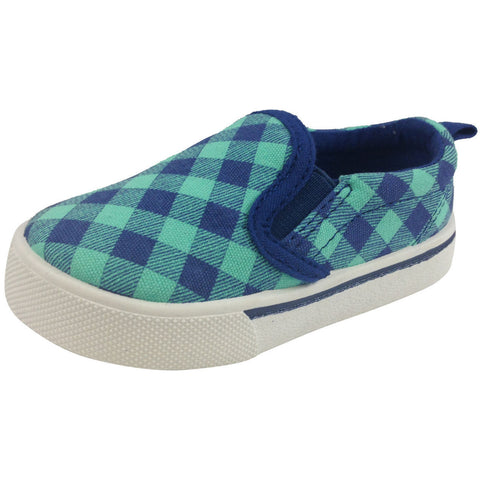 OshKosh B'Gosh Boy's and Girl's Blue & Turquoise Slip-Ons - Just Shoes for Kids  - 1