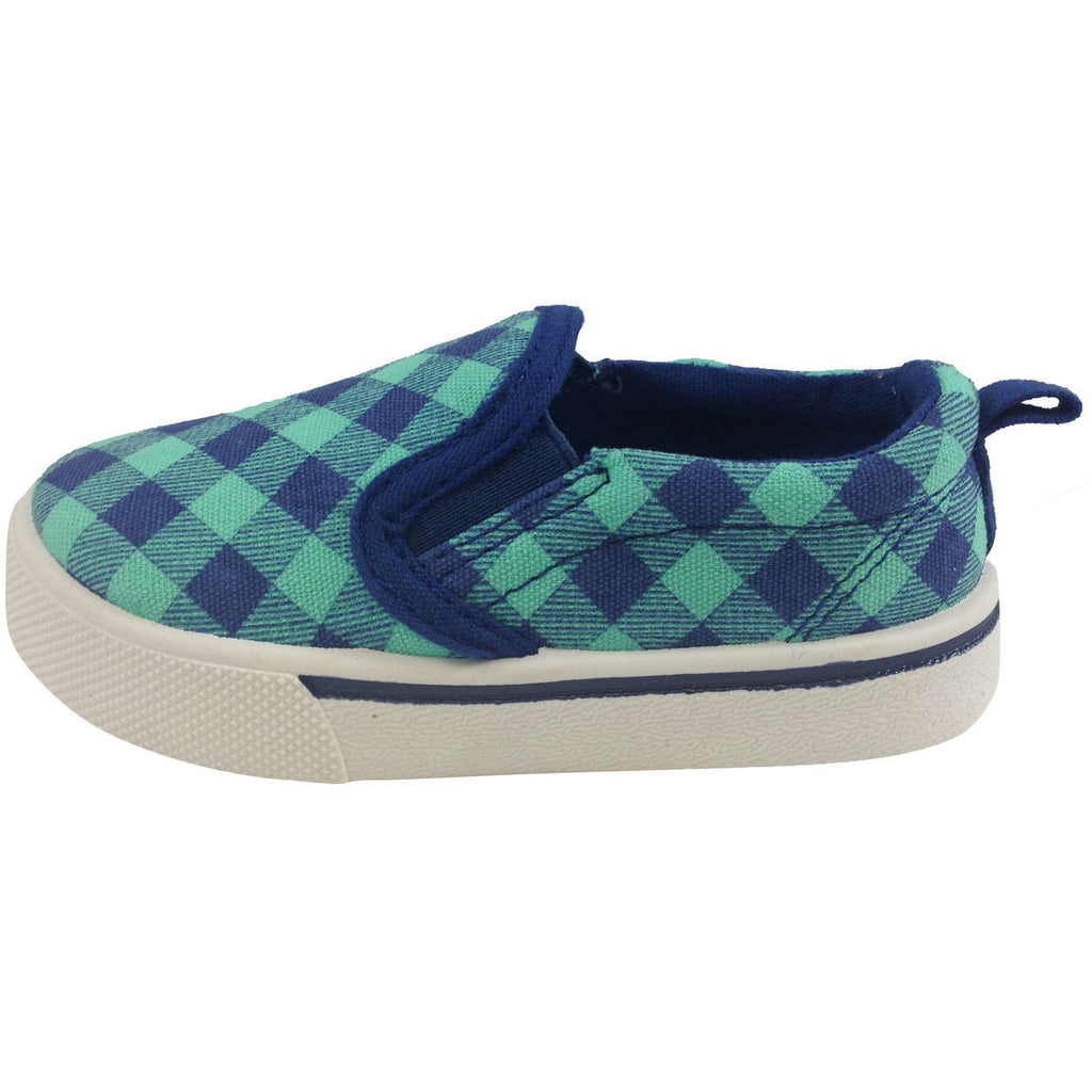 OshKosh B'Gosh Boy's and Girl's Blue & Turquoise Slip-Ons - Just Shoes for Kids  - 2