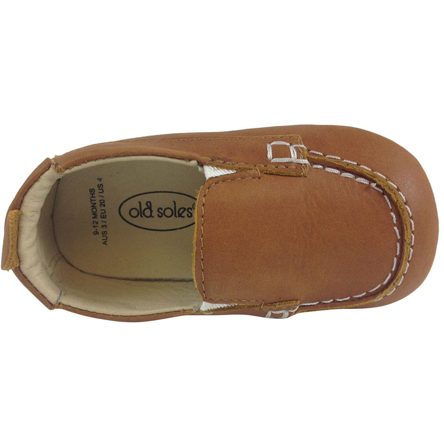 Old Soles Boy's Tan Boat Shoes - Just Shoes for Kids  - 4