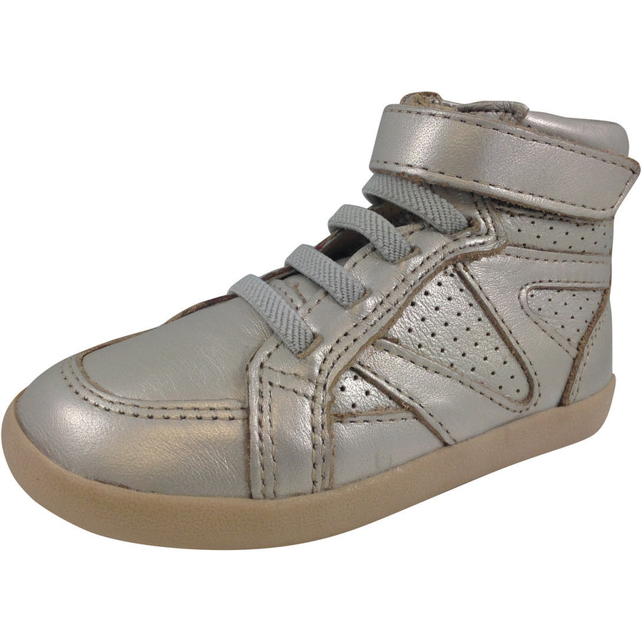 Old Soles Girl's Chalk Foil Leather Cheer Leader Hightops - Just Shoes for Kids  - 1