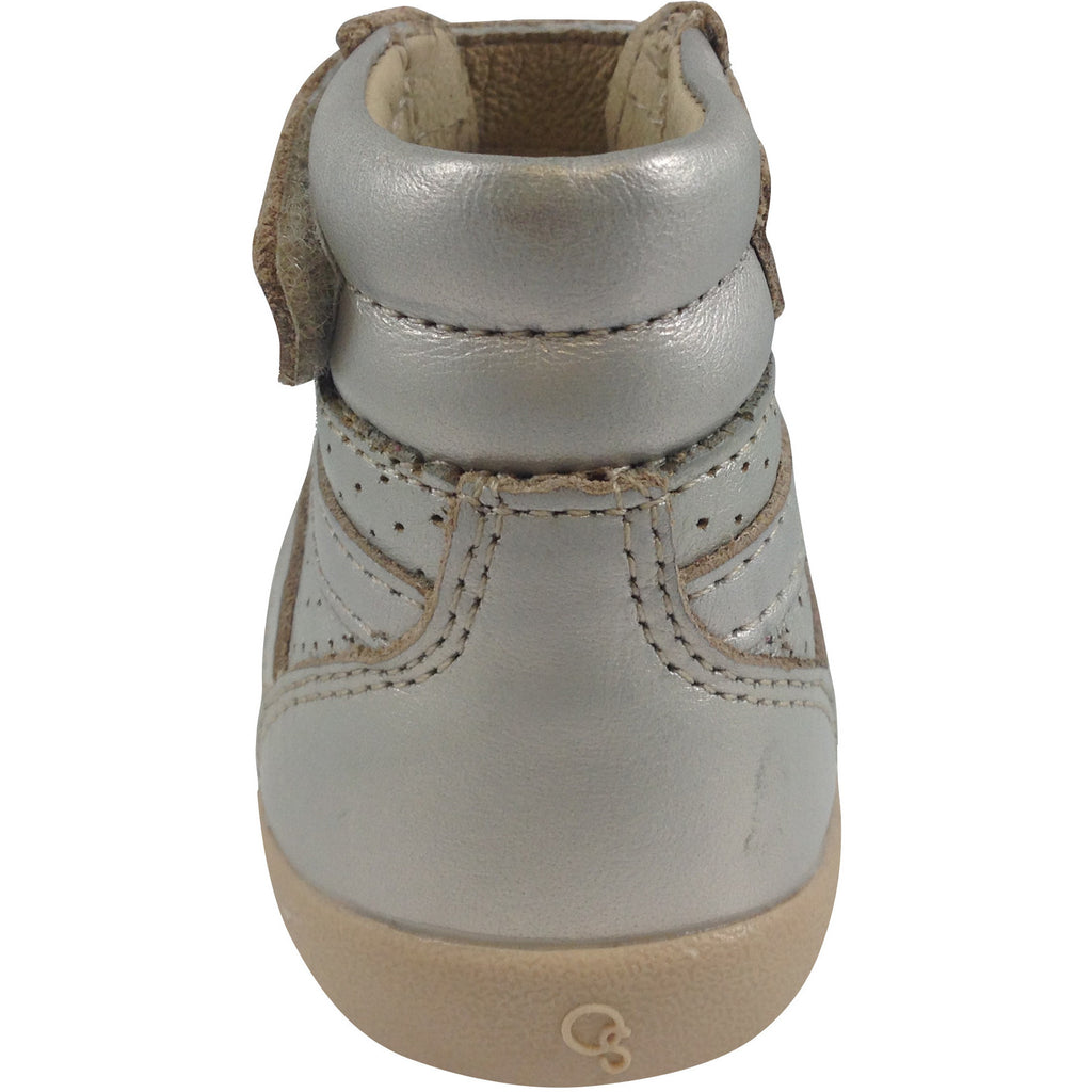Old Soles Girl's Chalk Foil Leather Cheer Leader Hightops - Just Shoes for Kids  - 3