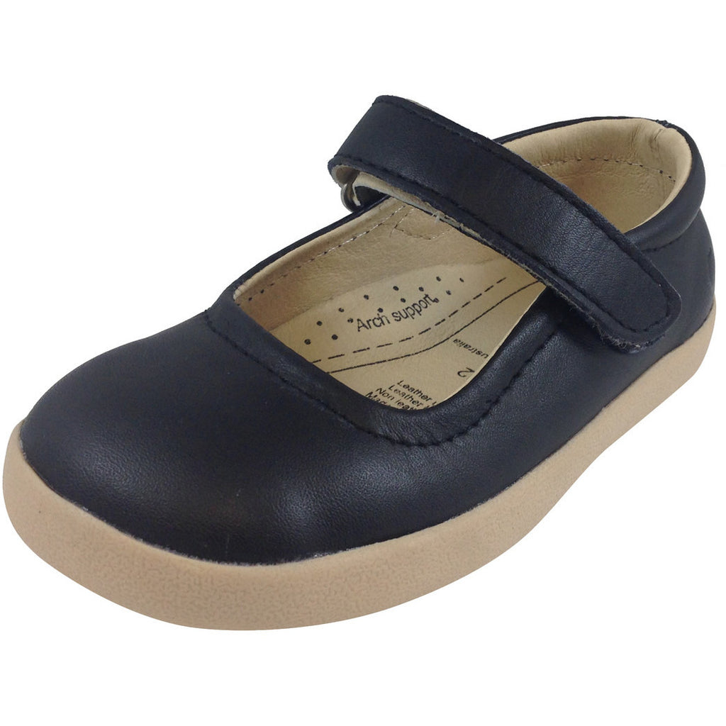 Old Soles Girl's Miss Jane Black Flat - Just Shoes for Kids  - 1