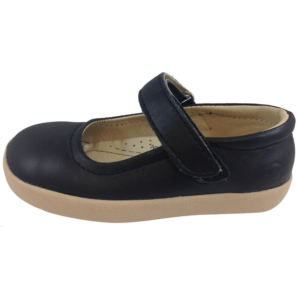 Old Soles Girl's Miss Jane Black Flat - Just Shoes for Kids  - 2