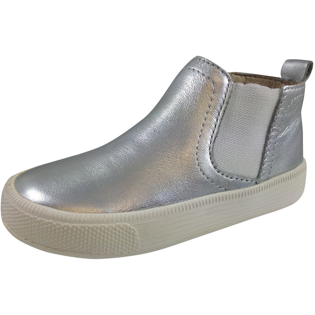 Old Soles Girl's and Boy's The Local 1033 Silver Leather Hightops - Just Shoes for Kids  - 1