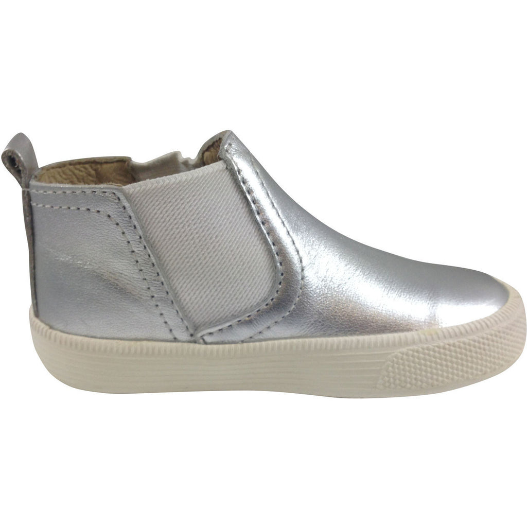 Old Soles Girl's and Boy's The Local 1033 Silver Leather Hightops - Just Shoes for Kids  - 2