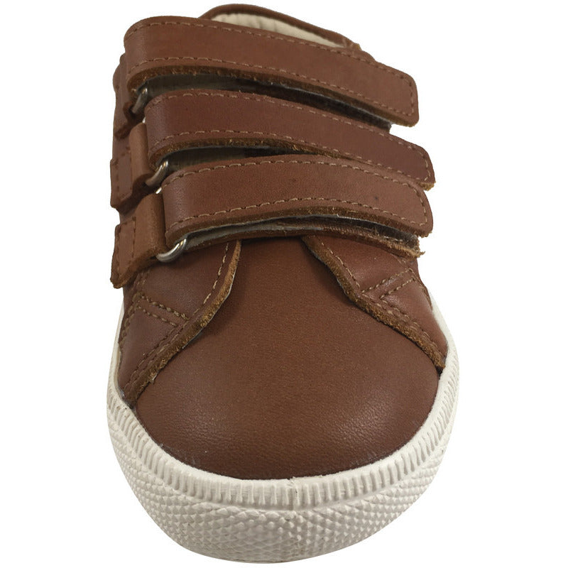 Old Soles Boy's & Girl's Urban Markert Distressed Tan Leather Sneakers - Just Shoes for Kids  - 3
