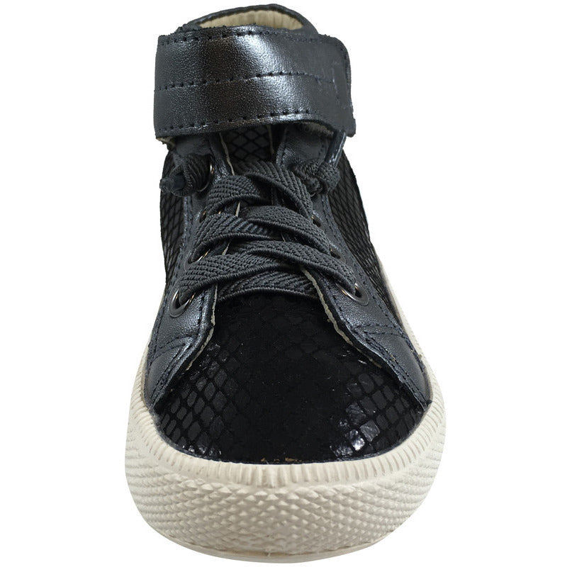 Old Soles Boy's & Girl's Plush Shoe Black Snake Lace Up High Tops Sneaker - Just Shoes for Kids  - 4