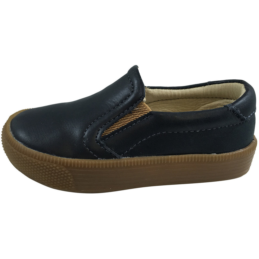 Old Soles Boy's Dress Hoff Leather Navy Loafers - Just Shoes for Kids  - 2