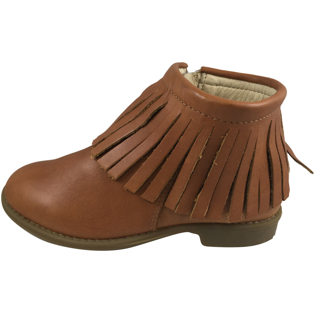 Old Soles Girl's 2012 Ever Boot Tan Leather Fringe Zipper Bootie Shoe - Just Shoes for Kids  - 2
