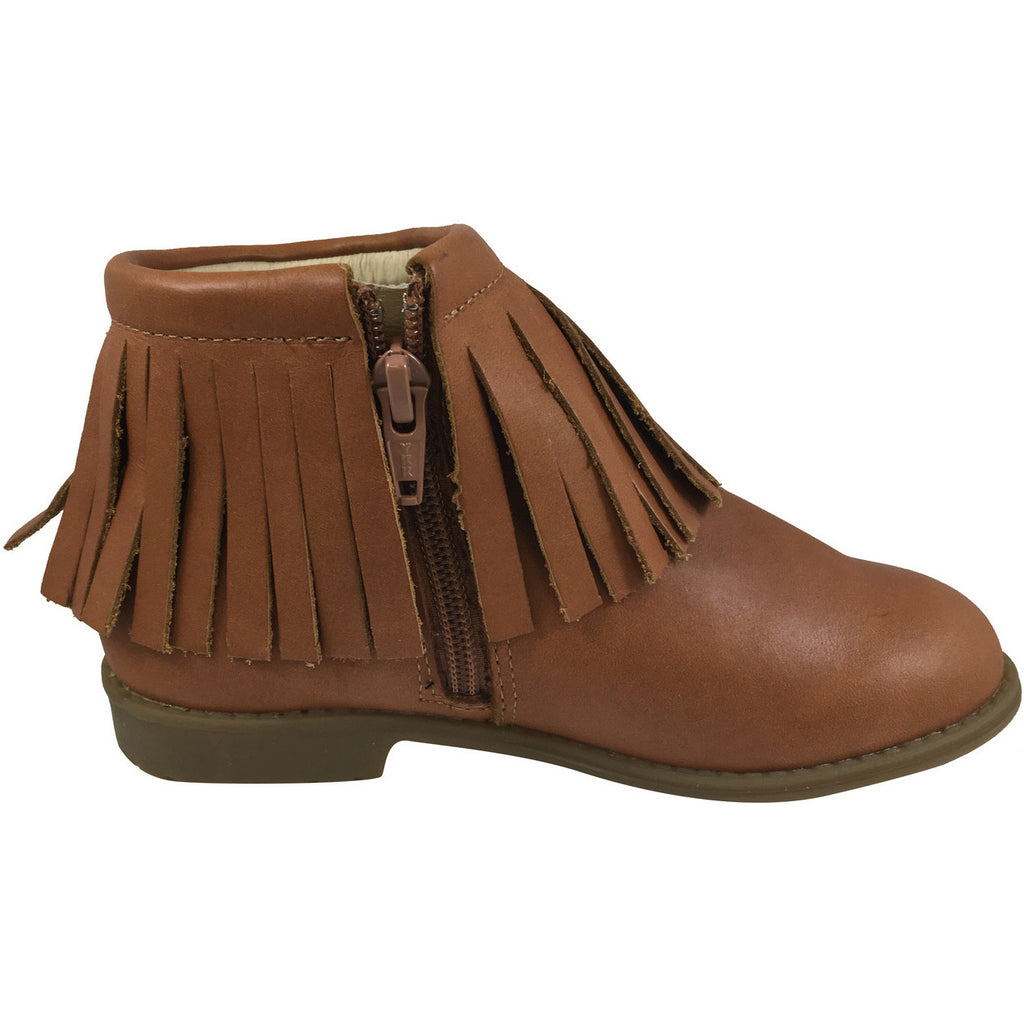 Old Soles Girl's 2012 Ever Boot Tan Leather Fringe Zipper Bootie Shoe - Just Shoes for Kids  - 3