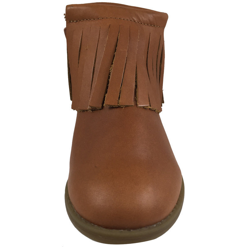 Old Soles Girl's 2012 Ever Boot Tan Leather Fringe Zipper Bootie Shoe - Just Shoes for Kids  - 4