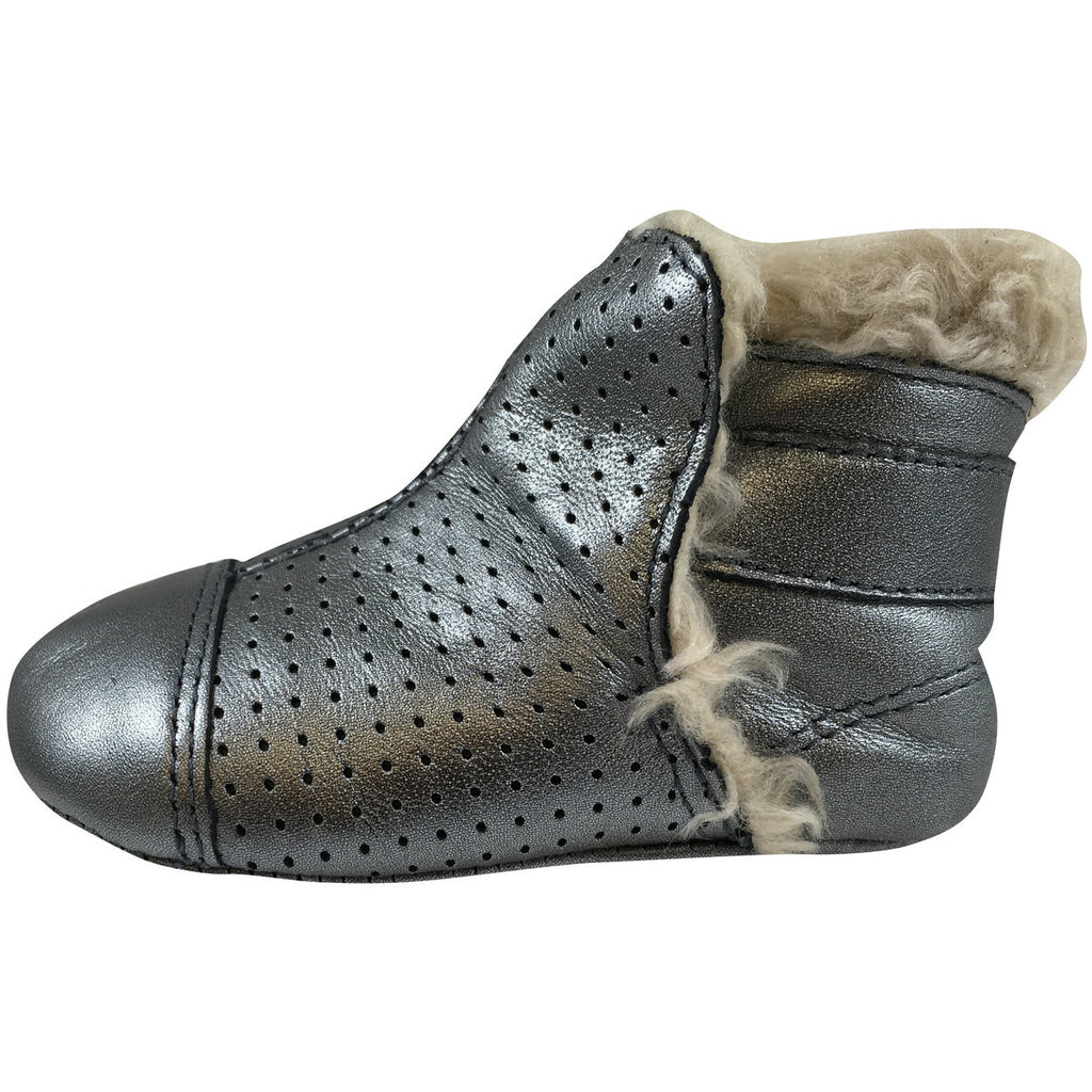 Old Soles Girl's 184 Gatsby Bootie Rich Silver - Just Shoes for Kids  - 3
