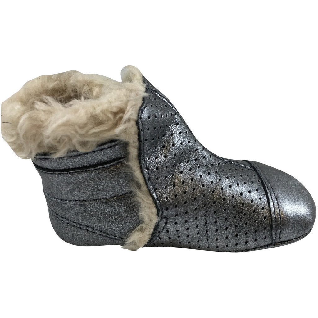 Old Soles Girl's 184 Gatsby Bootie Rich Silver - Just Shoes for Kids  - 2