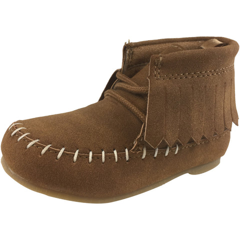 Carter's Girl's Khaki Allan Lace Up Fringe Mocassin Bootie
