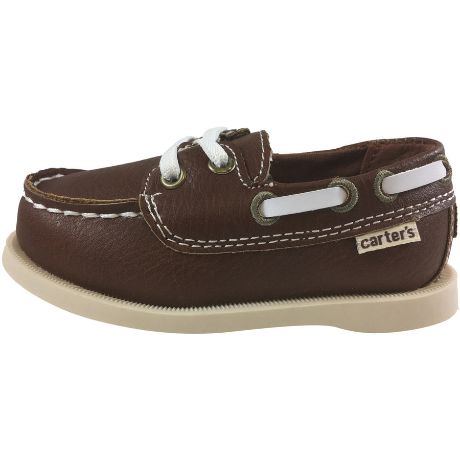 Carter's Boy's Ian Brown Slip On Classic Boat Shoe Loafer