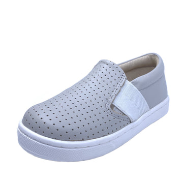 Old Soles 6084N OG Hoff Slip On Elastic Loafer Sneaker, Perforated Gris/Snow