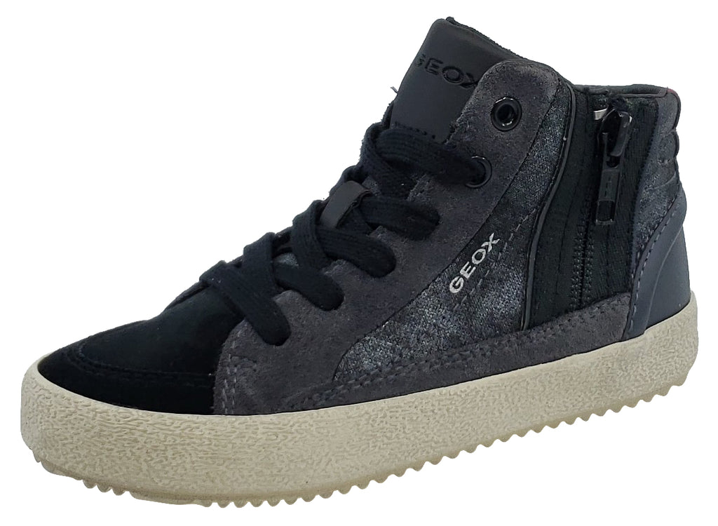 Geox Alonisso Suede Blue Black Hightop Junior for Boy's